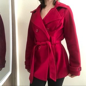 Jackets & Blazers - Cranberry Red Winter Coat